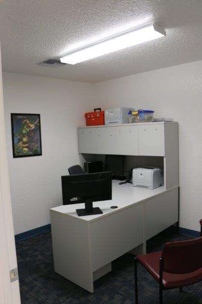 An administrative section inside the clinic