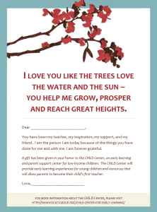 Honor Your Mom – And Support the CHILD Center