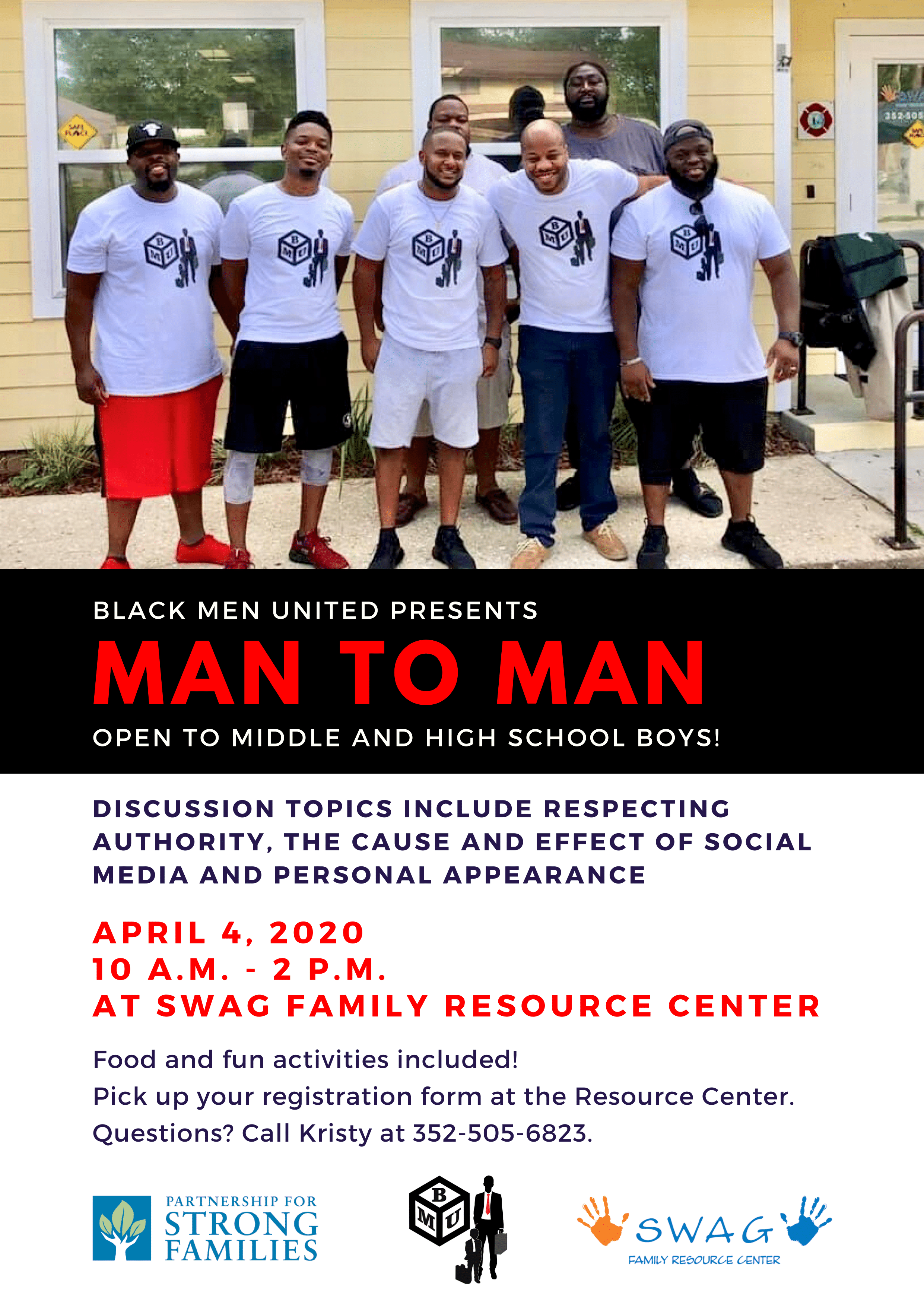 April 4: Black Men United Presents Man to Man!