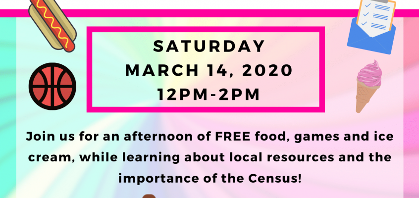 March 14 Family Fun Day & Census Awareness