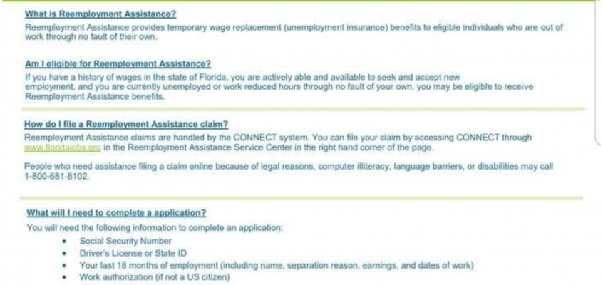Reemployment Assistance COVID-19 FAQs
