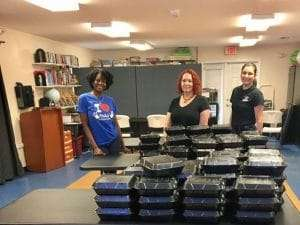 Distributing Boxed Lunches and Farm Shares