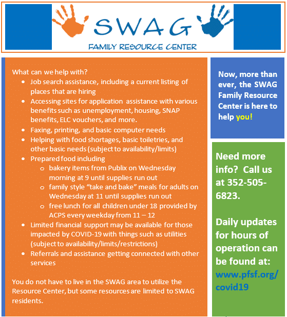 The SWAG Family Resource Center Is Here to Help!