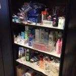 The toiletry area of the SWAG Family Resource Center, fully stocked thanks to support from Sunday Assembly of Gainesville
