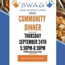 September Community Dinner Thursday, 9/24 5:30 – 6:30 PM