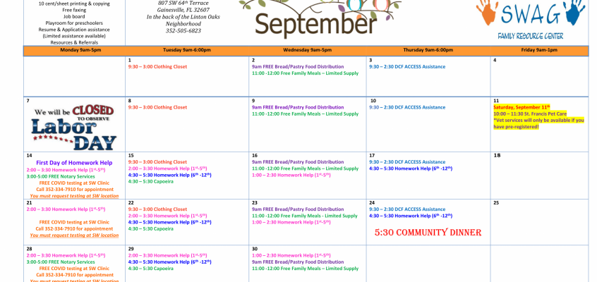 The September 2020 Calendar is Available