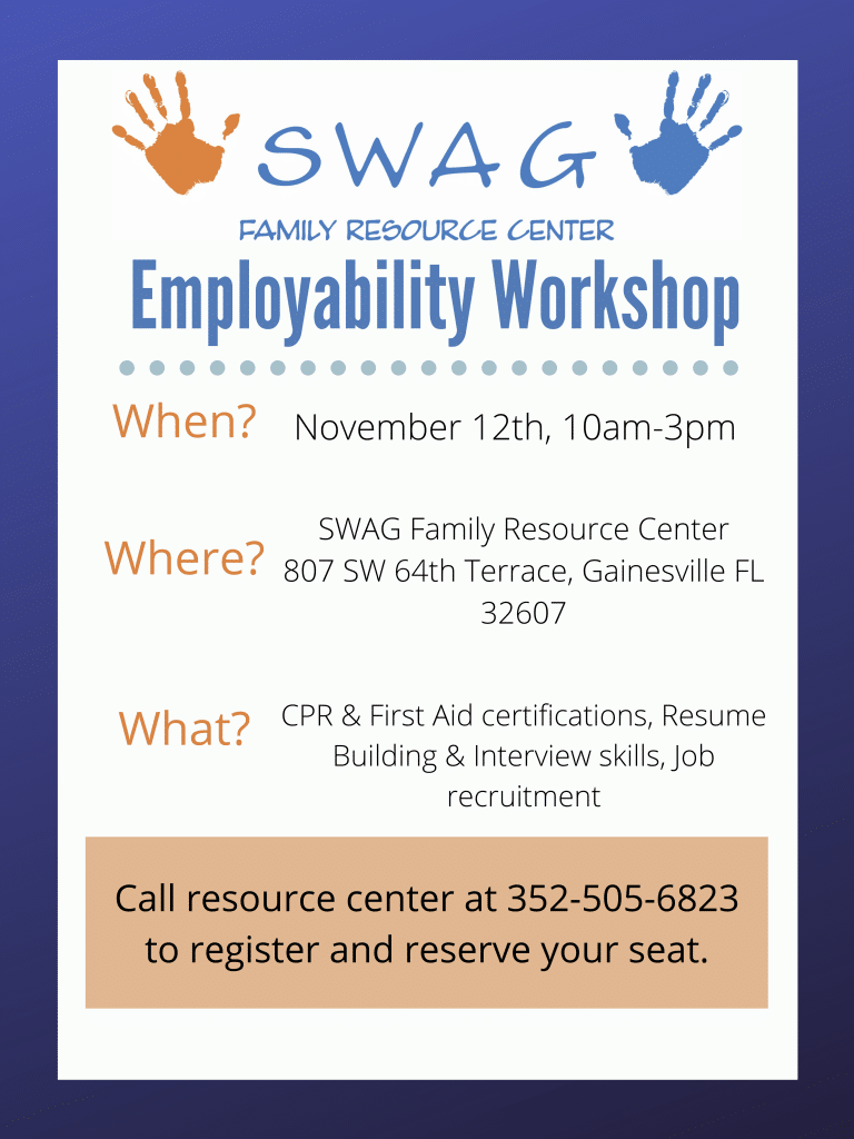 A flyer for an employability workshop. See the caption for a PDF download.