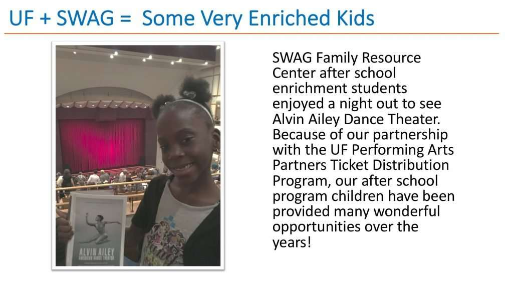 SWAG Family Resource Center after school enrichment students enjoyed a night out to see Alvin Ailey Dance Theater.