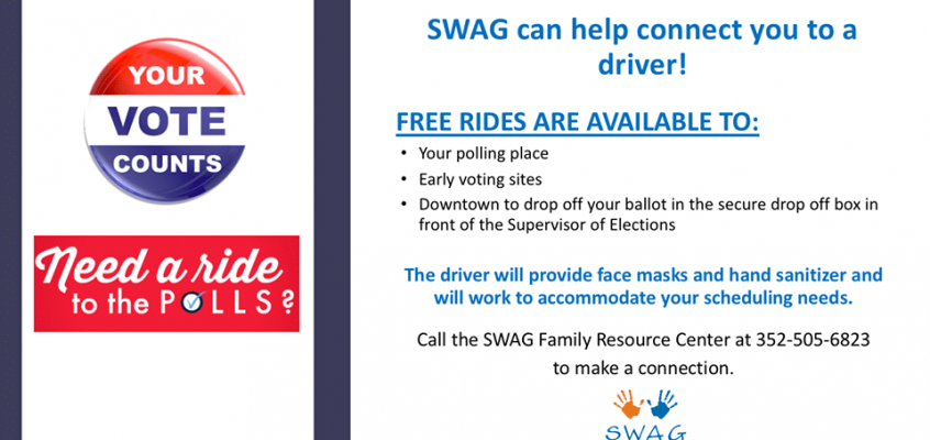 Need a Ride to the Polls? SWAG Can Help!