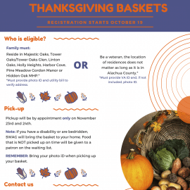 It's Time to Sign Up for Thanksgiving Baskets