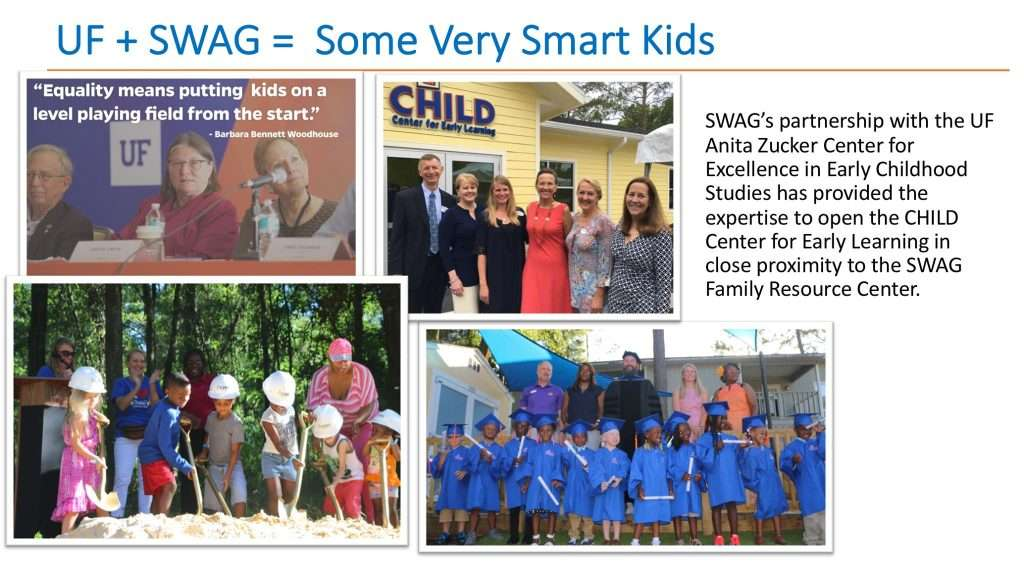 SWAG's partnership with UF has provided the expertise to open the CHILD Center for Early Learning.