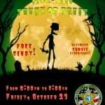 """A flyer for the Halloween drive-thru """"trunk or treat"""" by the Alachua County Sheriff's Office. Information is on this page."""