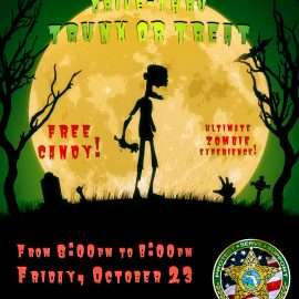 Halloween Events by the Alachua County Sheriff's Office