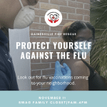 A flyer for a flu clinic at SWAG. See the caption for a PDF download.