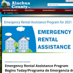 The program announcement for the Emergency Rental Assistance Program for people with housing instability