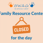 A notice that the Family Resource Center is closed for the day