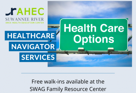 The flyer for Healthcare Navigator Services at the SWAG Family Resource Center