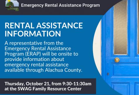 A flyer for the October 2021 information session on the Emergency Rental Assistance Program